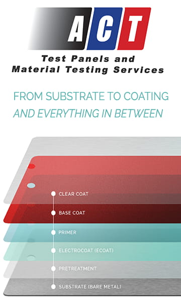 ACT Test Panels and Material Testing Services Ad